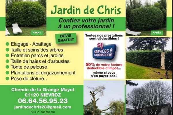 Logo de Jardin De Chris, société de travaux en Entretien de jardin (ponctuel ou à l'année)