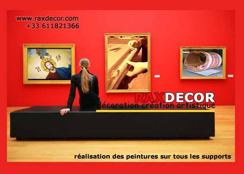 Logo de RAXDECOR, société de travaux en Peinture : mur, sol, plafond
