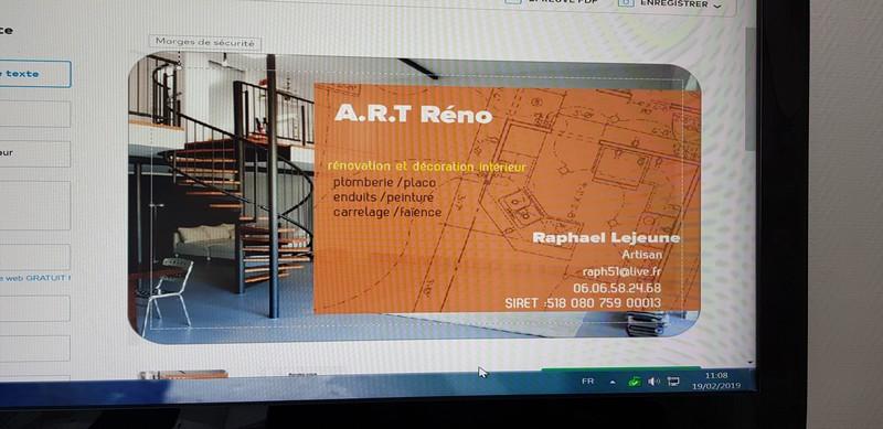 Logo de ART réno, société de travaux en Construction, murs, cloisons, plafonds en plaques de plâtre