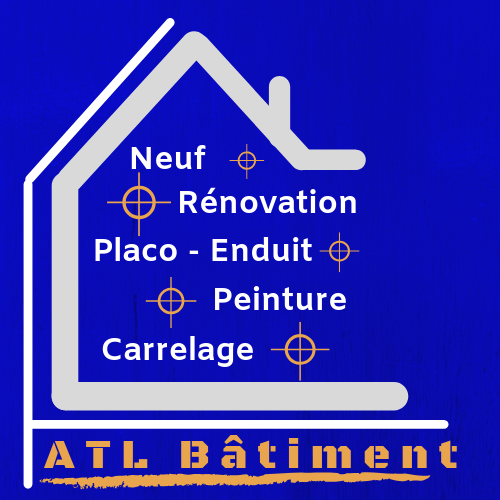 Logo de ATL Bâtiment, société de travaux en Construction, murs, cloisons, plafonds en plaques de plâtre