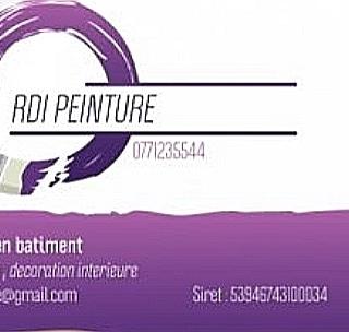 Logo de RDI PEINTURE, société de travaux en Peinture : mur, sol, plafond