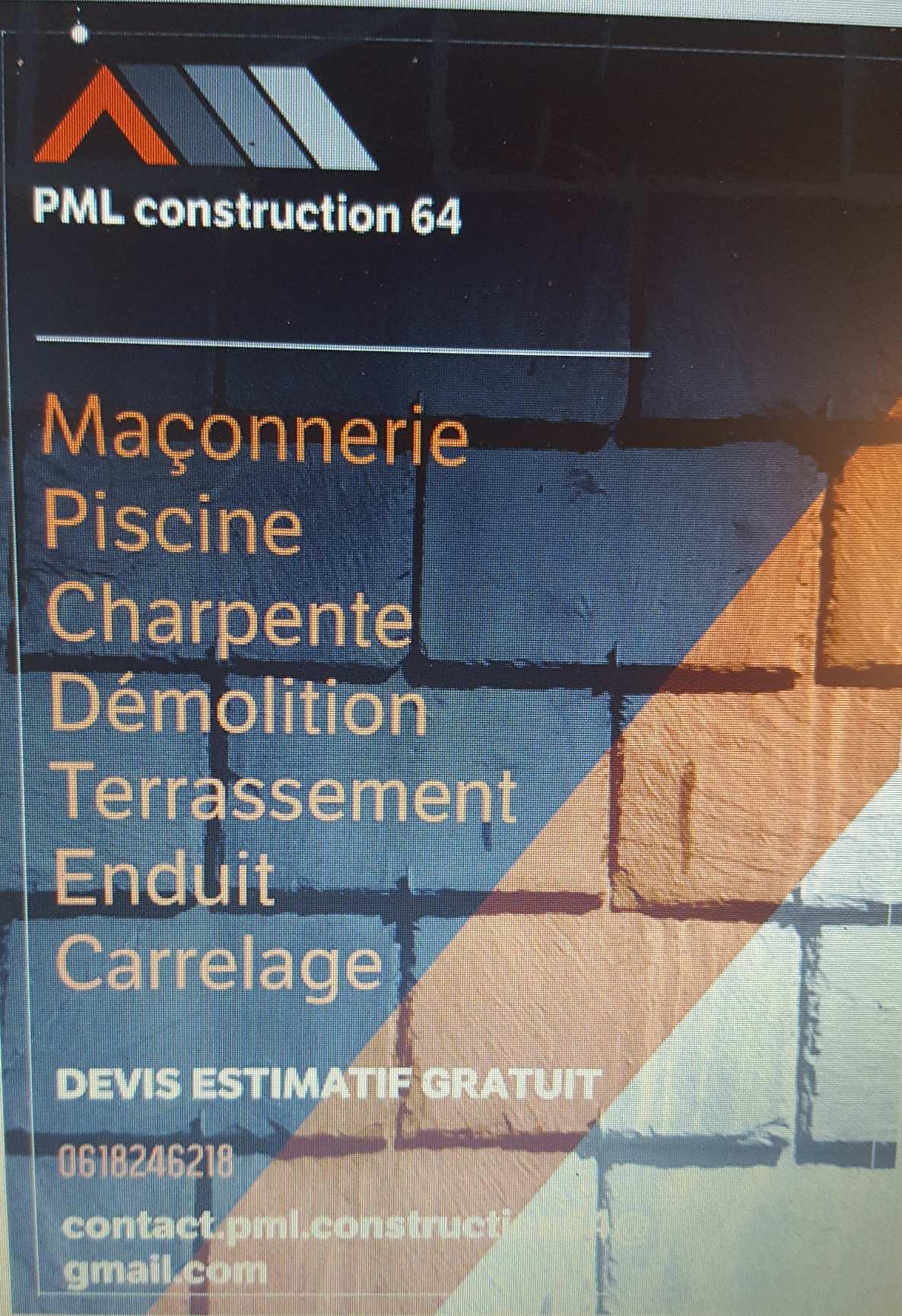 Logo de PML construction, société de travaux en Construction de maison