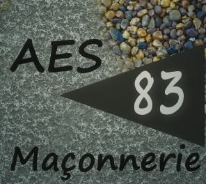 Logo de AES Maçonnerie 83, société de travaux en Maçonnerie : construction de murs, cloisons, murage de porte