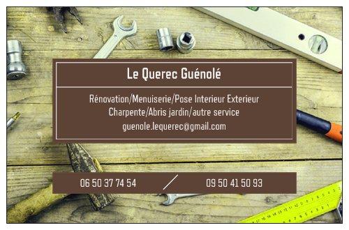Logo de guénolé lequerec, société de travaux en Fourniture et pose de parquets flottants
