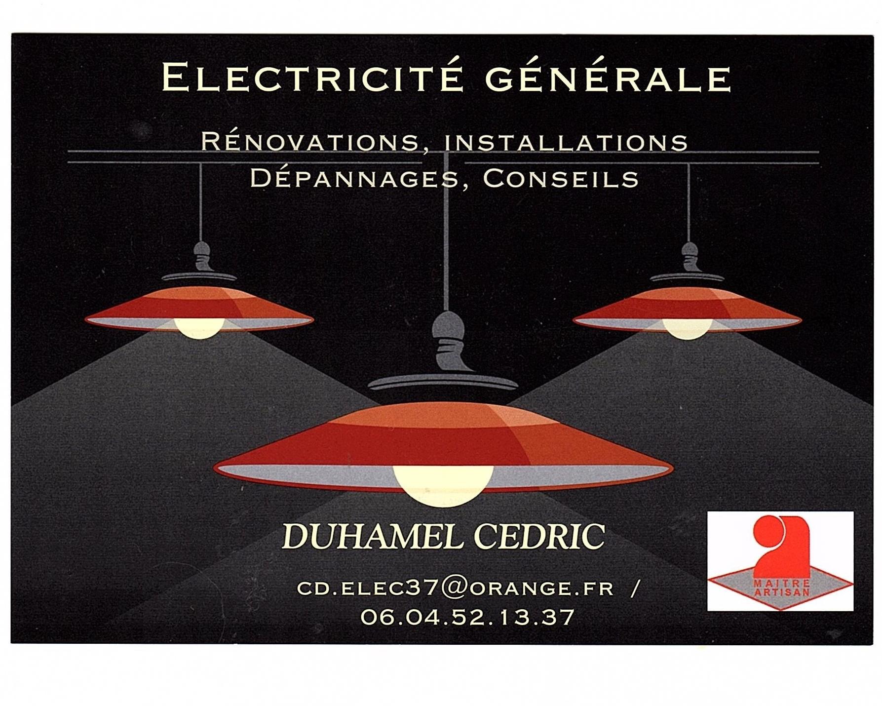 Logo de Cédric Duhamel Electricité Générale, société de travaux en Dépannage électrique