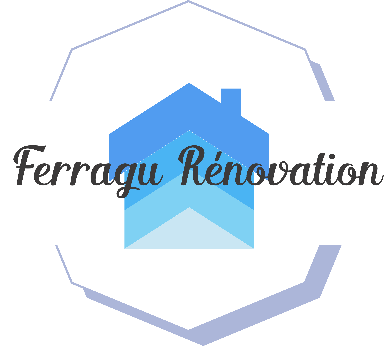 Logo de entreprise ferragu renovation, société de travaux en Fourniture et pose parquets