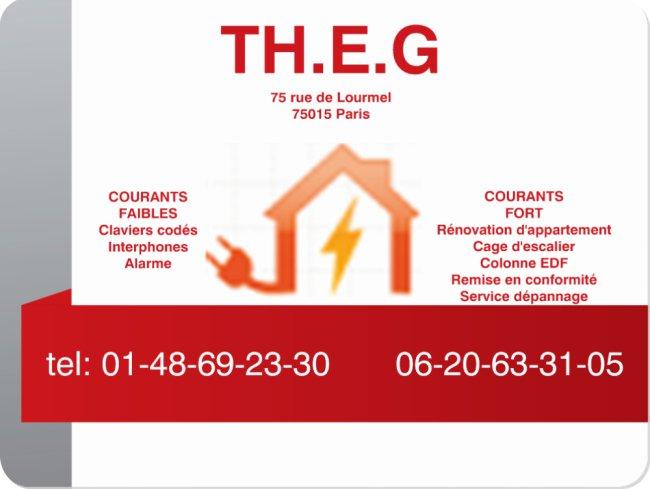 Logo de TH.E.G, société de travaux en Installation électrique : rénovation complète ou partielle