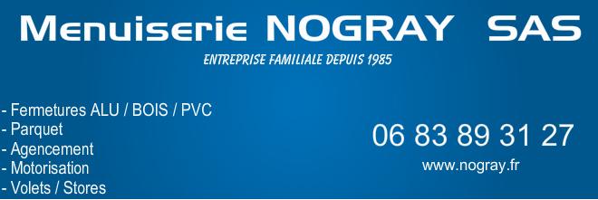 Logo de Menuiserie NOGRAY, société de travaux en Fourniture et installation d'une ou plusieurs fenêtres