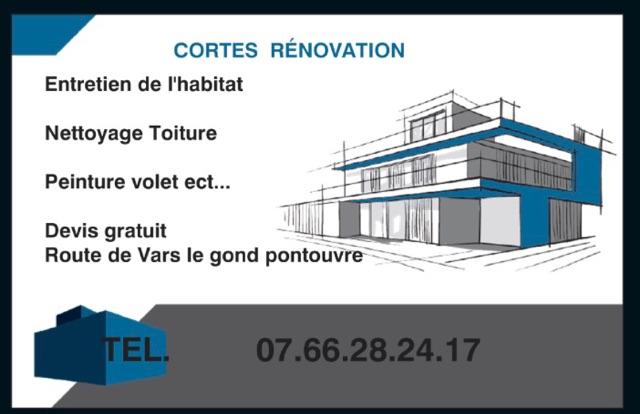 Logo de Cortes rénovation, société de travaux en Nettoyage toitures et façades