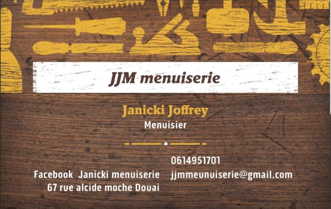 Logo de JJM menuiserie, société de travaux en Fourniture et remplacement de porte ou fenêtre en bois