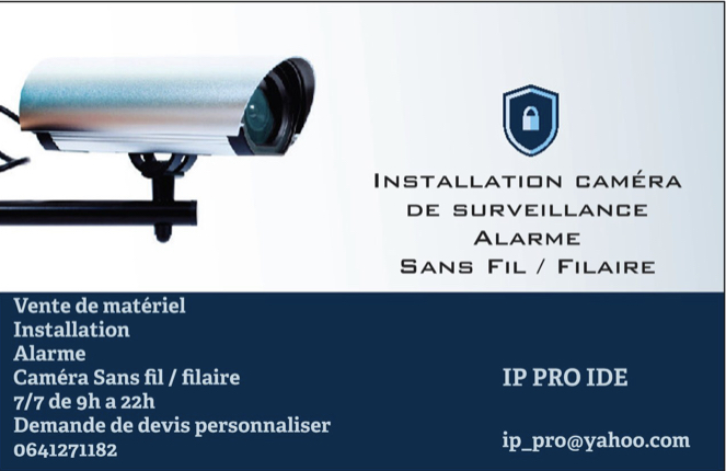 Logo de IP PRO IDF, société de travaux en Fourniture et pose d'un portier vidéo