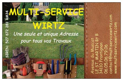 Logo de MULTI-SERVICE WIRTZ, société de travaux en Peinture : mur, sol, plafond