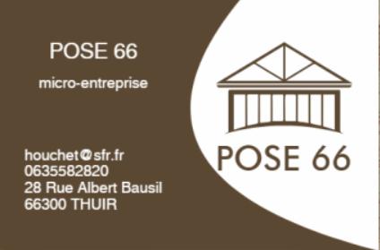 Logo de pose66, société de travaux en Fourniture et remplacement de porte ou fenêtre en PVC