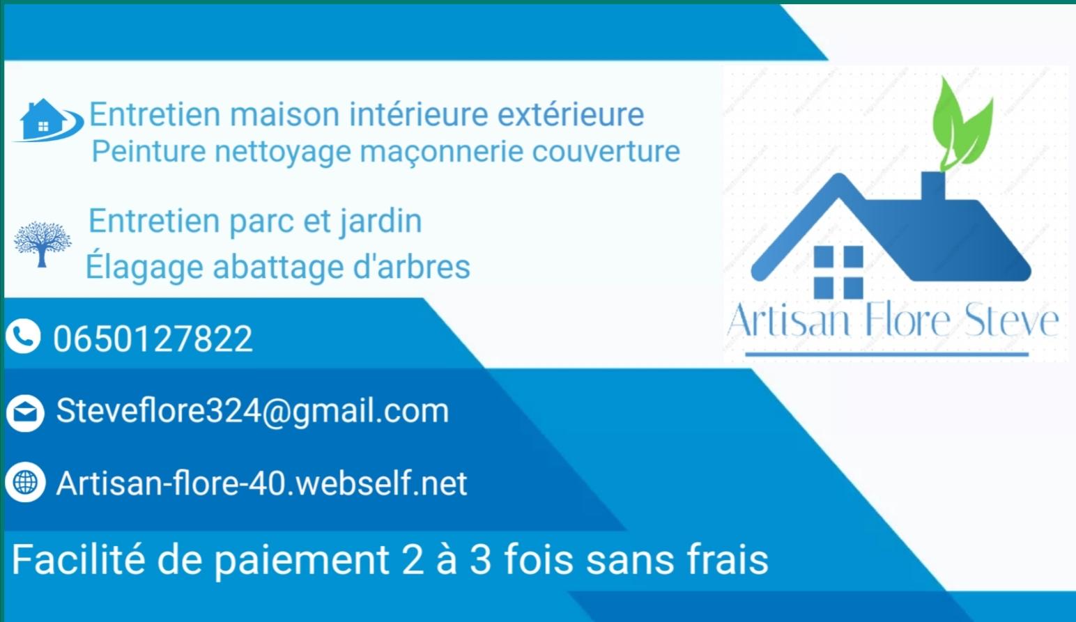 Logo de Artisan Flore, société de travaux en Nettoyage de toitures - façades - bardages