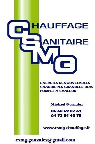 Logo de CSMG, société de travaux en Fourniture et installation de lavabos, baignoires, douches, WC...