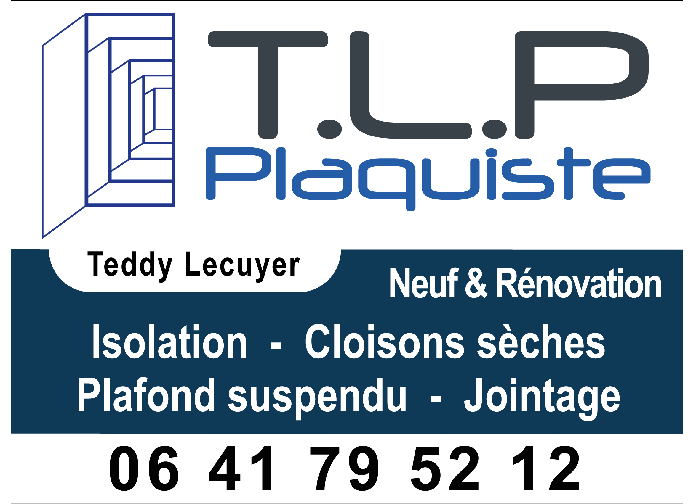 Logo de TLP PLAQUISTE, société de travaux en Construction, murs, cloisons, plafonds en plaques de plâtre