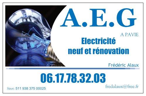Logo de AEG, société de travaux en Motorisation pour fermeture de portes et portails