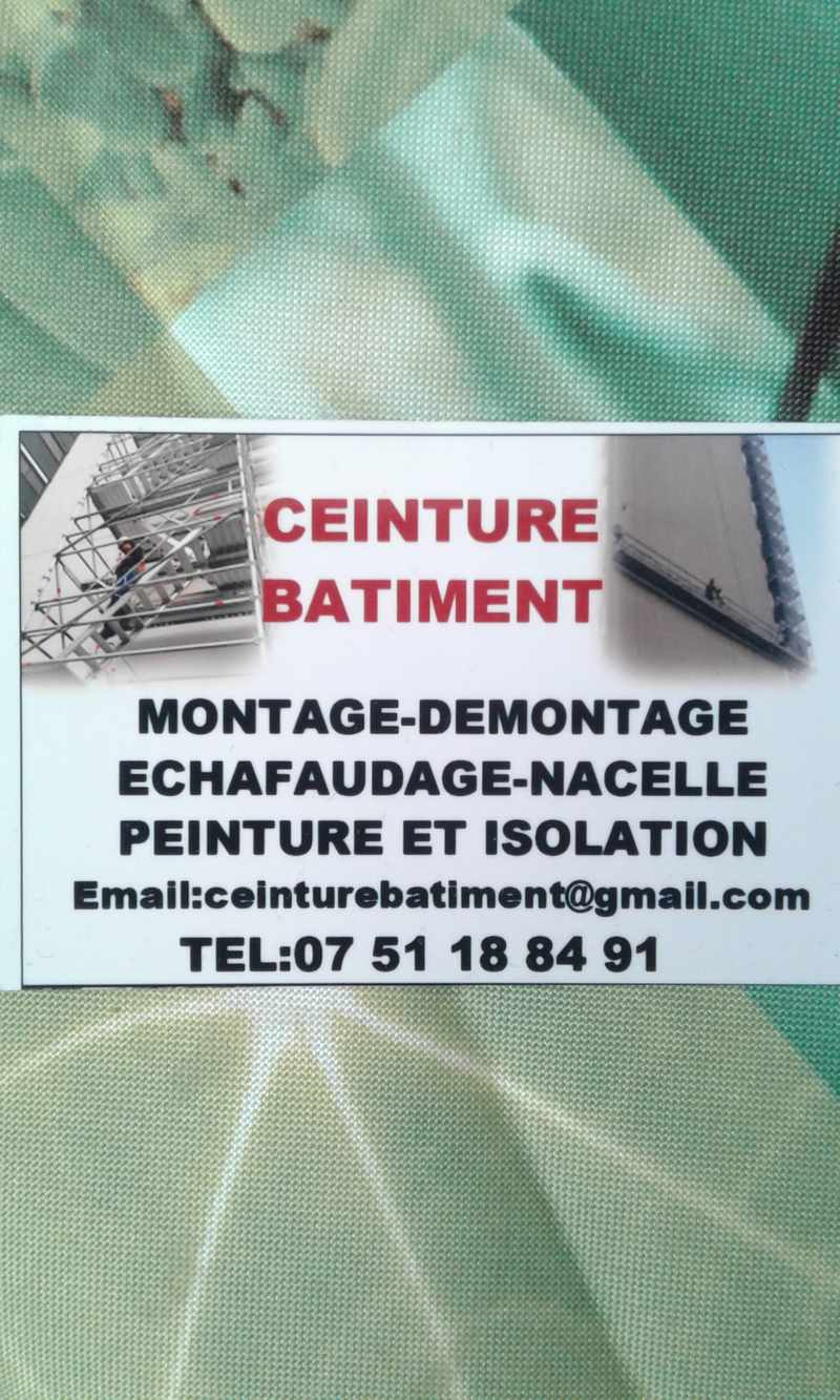 Logo de Ceinture bâtiment, société de travaux en Décrassage des façades