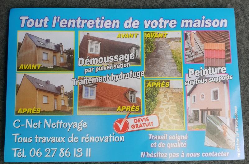 Logo de C-Net Nettoyage, société de travaux en Nettoyage de toitures - façades - bardages