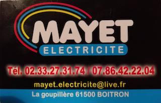 Logo de MAYET ELECTRICITE, société de travaux en Installation électrique : rénovation complète ou partielle