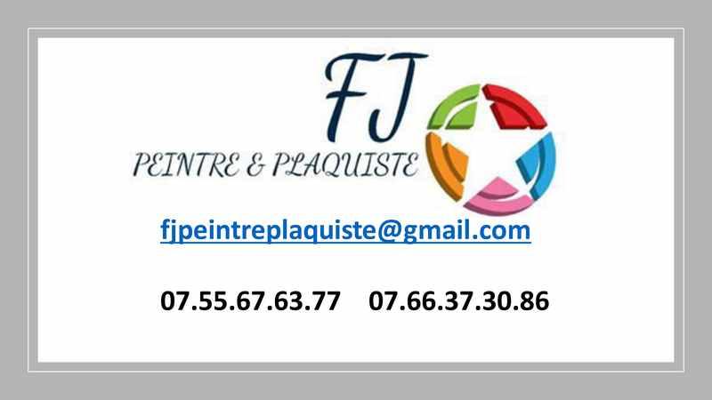 Logo de FJ PEINTRE&PLAQUISTE, société de travaux en Construction, murs, cloisons, plafonds en plaques de plâtre