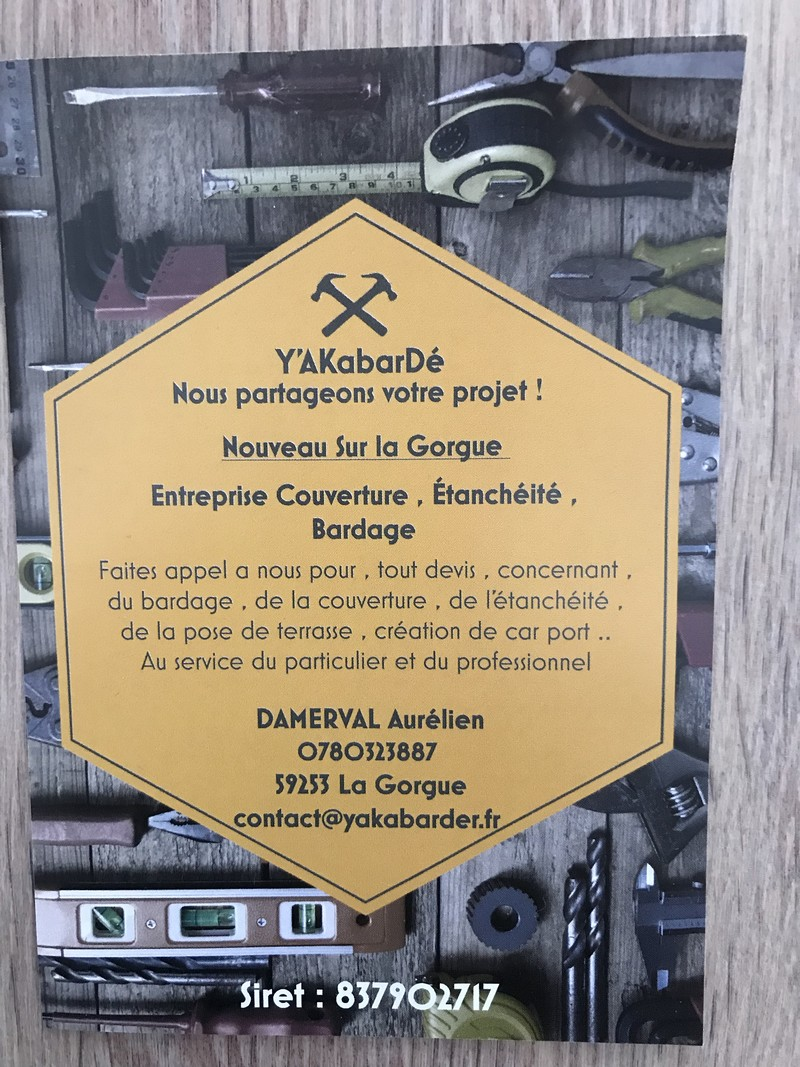 Logo de Yakabarde, société de travaux en Couverture (tuiles, ardoises, zinc)
