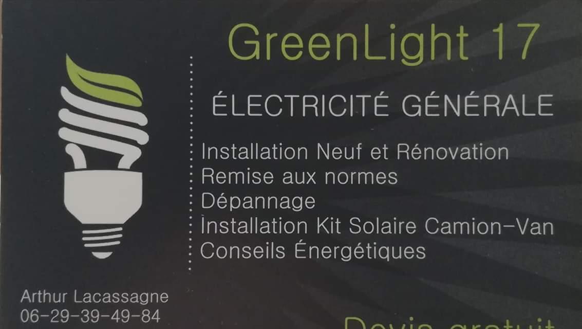 Logo de GREENLIGHT17, société de travaux en Petits travaux en électricité (rajout de prises, de luminaires ...)