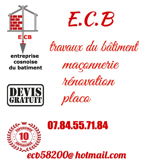 Logo de entreprise cosnoise du batiment, société de travaux en Construction, murs, cloisons, plafonds