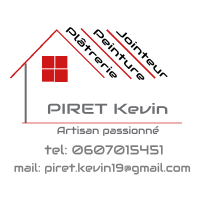 Logo de PIRET Kevin, société de travaux en Construction, murs, cloisons, plafonds en plaques de plâtre
