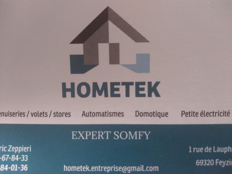 Logo de Hometek, société de travaux en Systèmes de motorisation pour portails automatiques