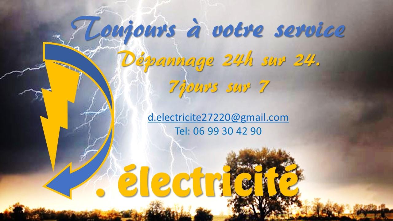 Logo de D.electricite, société de travaux en Installation électrique : rénovation complète ou partielle