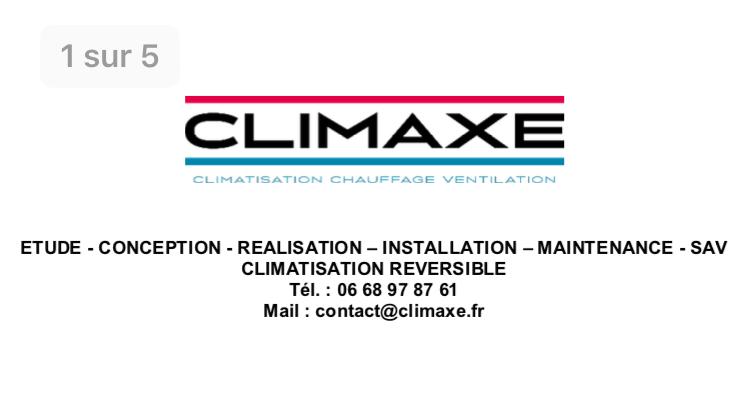 Logo de Climaxe, société de travaux en Fourniture et pose d'un climatiseur