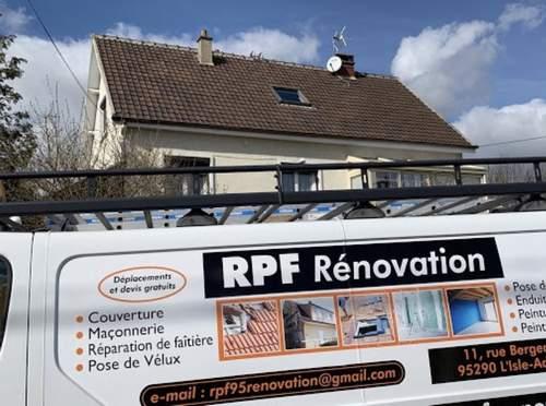 Logo de RPF rénovation, société de travaux en Rénovation ou changement de votre couverture de toit