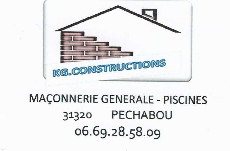 Logo de KG CONSTRUCTIONS, société de travaux en Maçonnerie : construction de murs, cloisons, murage de porte