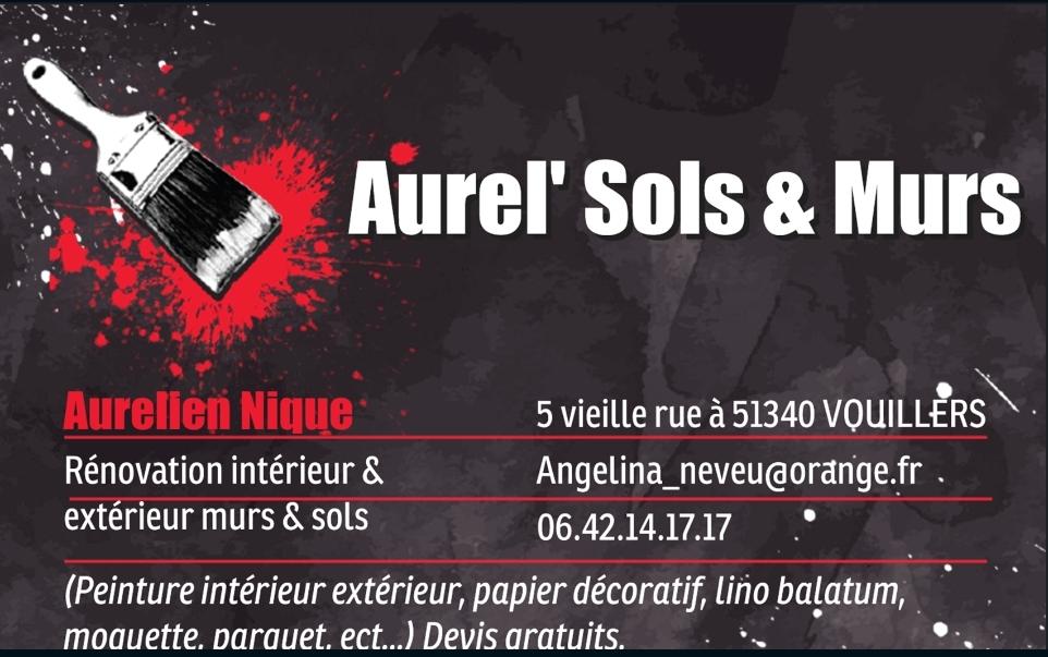 Logo de Aurel' Sols&Murs, société de travaux en Fourniture et pose de parquets flottants