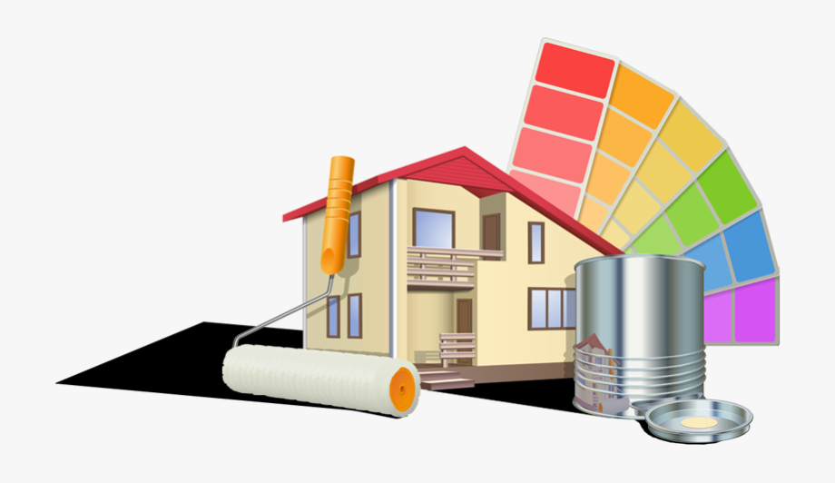 Logo de E.C peintre en bâtiment, société de travaux en Peinture : mur, sol, plafond