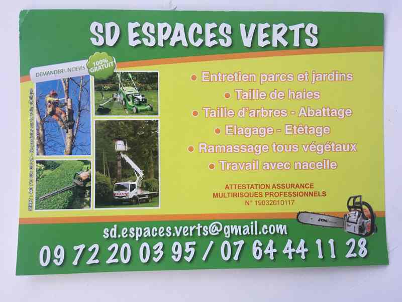 Logo de Sd Espaces verts, société de travaux en Elagage / Taille